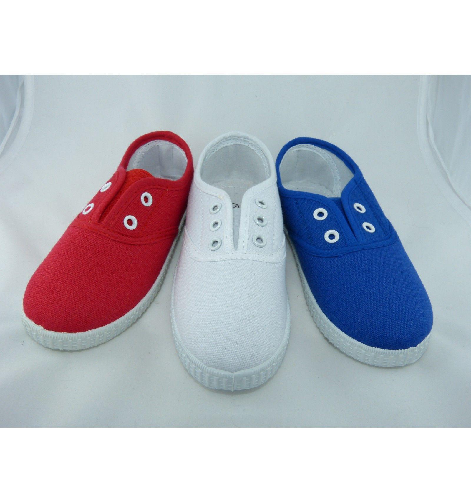 Zapatillas de lona con elastico baratas calzado infantil for Zapatillas de seguridad baratas