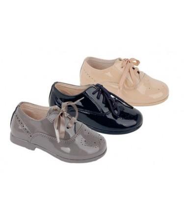 Zapato ingles unisex en piel y charol