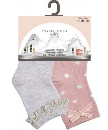 Pack 2 calcetines para bebe Ysabel Mora