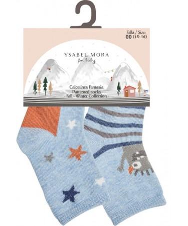 Pack 2 calcetines bebe niño Ysabel Mora