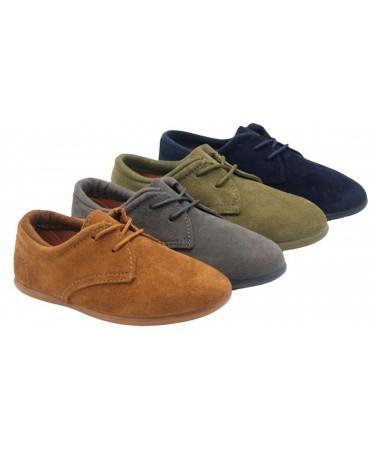 Zapatos blucher unisex serraje
