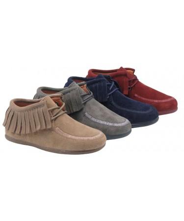 Zapatos blucher unisex de piel