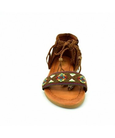 Sandalias niña tipo indias con flecos