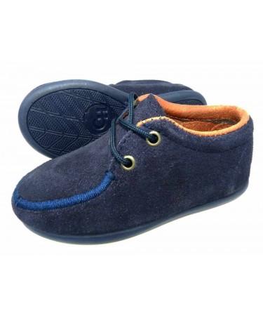 Zapato blucher de serraje