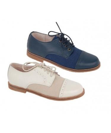 Zapatos comunion niño de piel