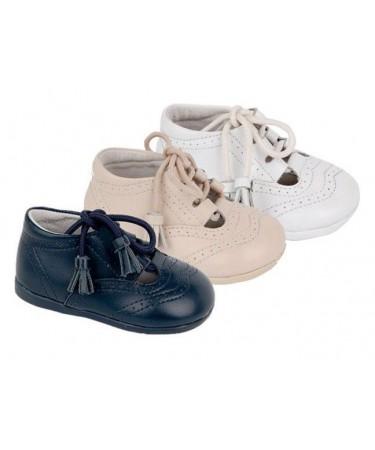 Zapato ingles niños  en piel