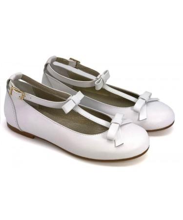 Zapatos comunion niña blancos