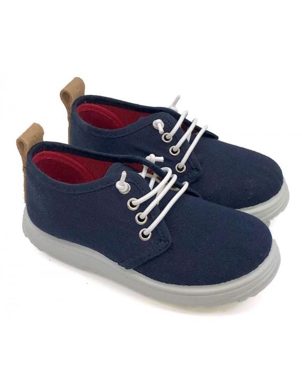 Zapatillas de lona cordones elásticos