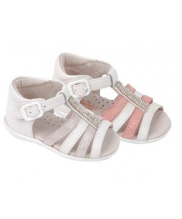 Sandalias de niña con brillantes