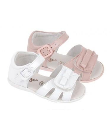 Sandalias para niña con velcro en empeine