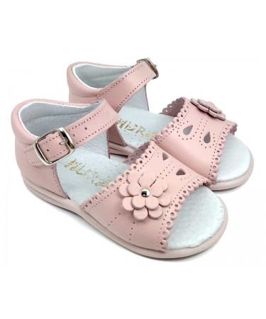 Sandalias niña de piel  primeros pasos