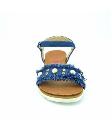 Sandalias niña tejido vaquero