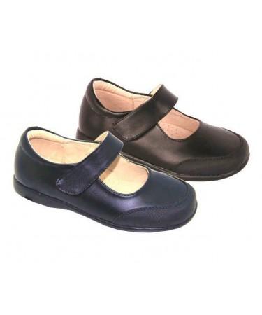 Zapatos colegiales niña puntera reforzada