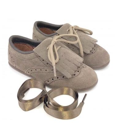 Zapatos blucher unisex con flecos