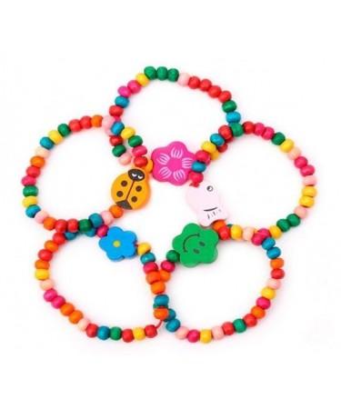 Pulseras coloridas para niñas