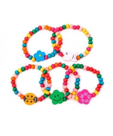 513517447aac Pulseras coloridas para niñas. Zapateria niños. Calzado infantil.