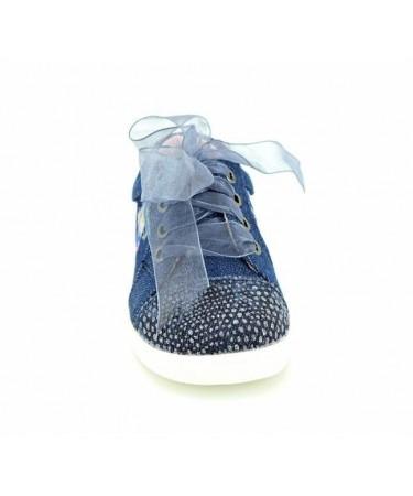 Zapatillas de lona niña con tejido vaquero