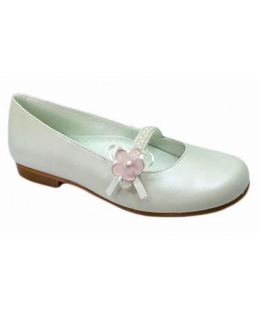 Zapato de comunion niña con flores