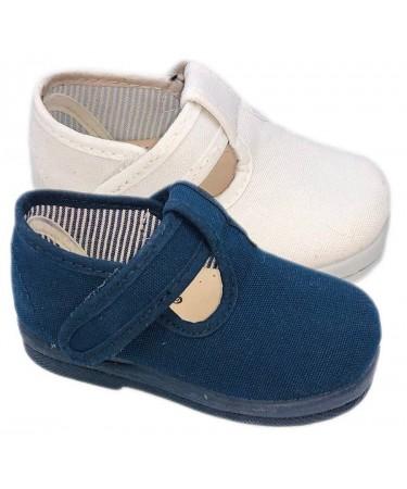 Zapatos pepitos de tela