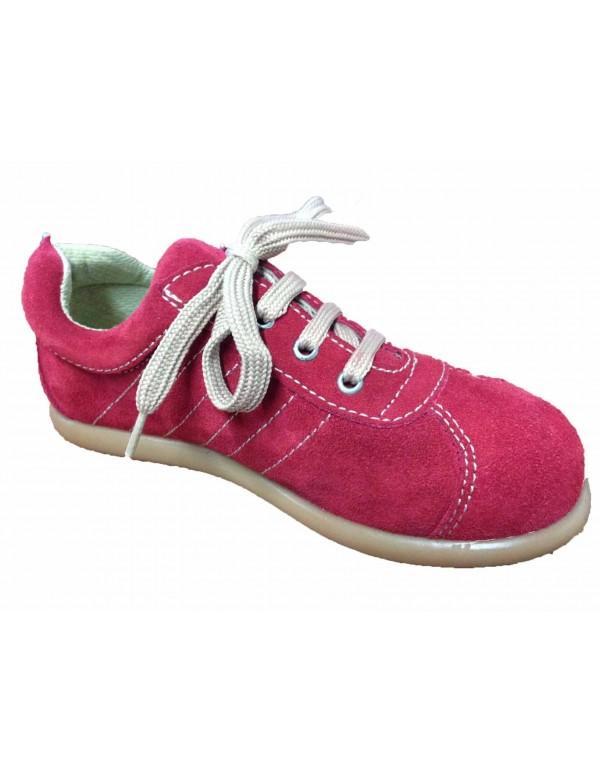Zapatillas de serraje con cordones