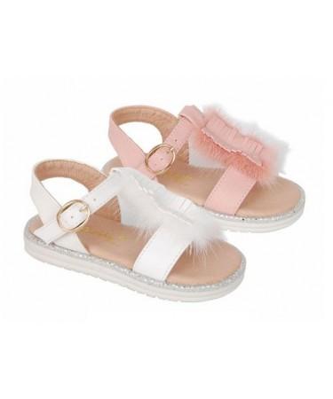 Sandalias niña con flecos