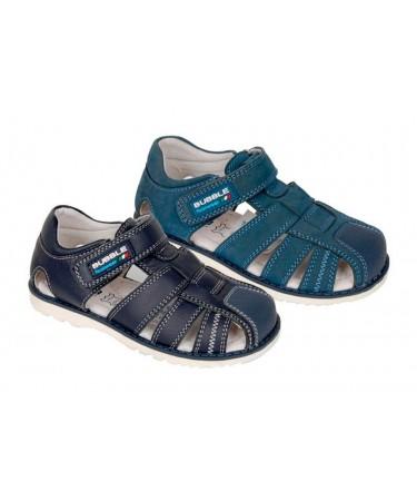 Sandalias niño azul marino