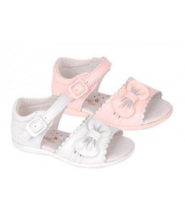 Sandalias para niña de piel...