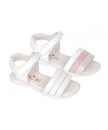Sandalias de piel niña con...