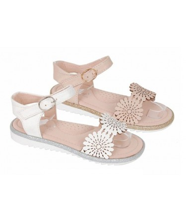 Sandalias niña con pompones