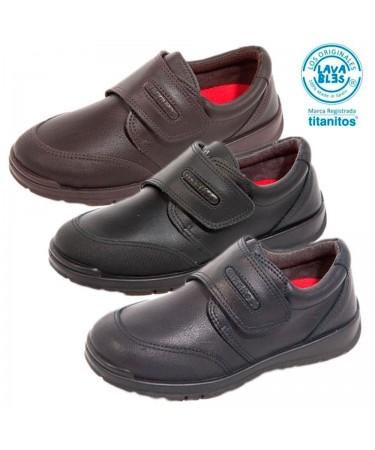 Zapatos colegiales niño en piel lavables