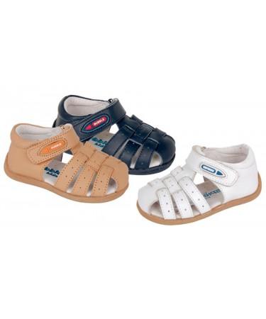 Sandalias de niño en piel