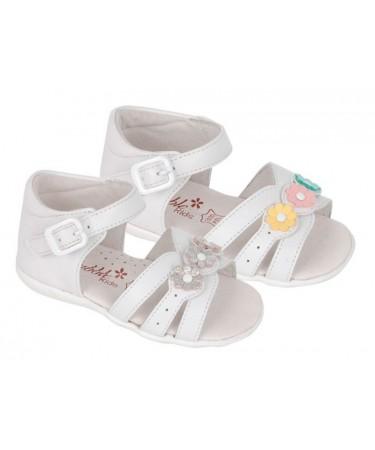 Sandalias para niña con flores