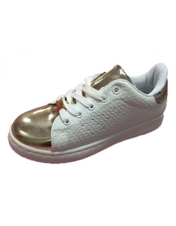 Zapatillas niña puntera dorada