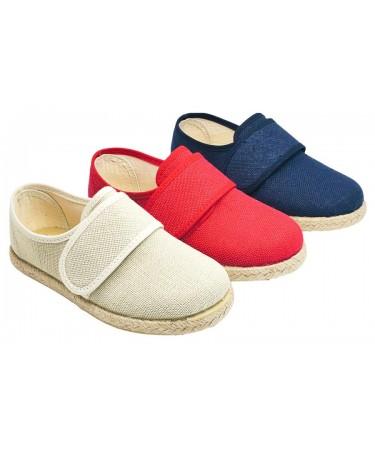 Zapatos niño nauticos en lino
