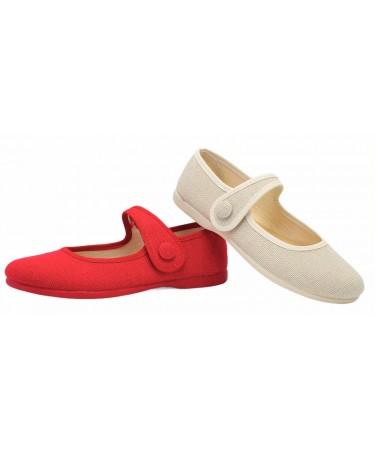 Zapatos de niñas en lino